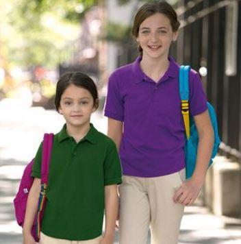 Kids Jersey Knit Polo Shirt