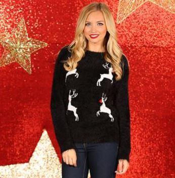Women's Reindeer Eyelash Knitted Jumper