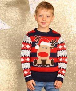 kids christmas jumpers reindeer