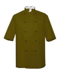 Olive Short Sleeve Chefs Jacket