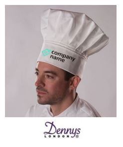 embroidered logo on chefs hat