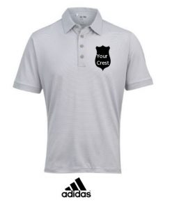 adidas mens golf polo shirt embroidered crest society gift prize ireland