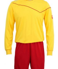 Kids & Adults Yellow-Red Lotto Full Football Kit