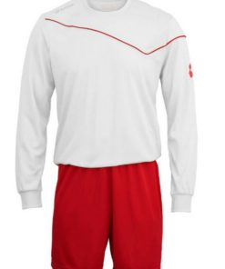 Kids & Adults White-Red Lotto Full Football Kit