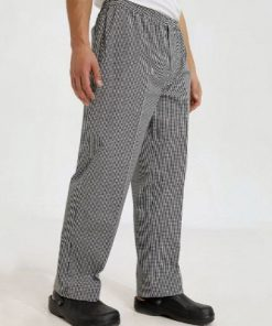 Black & White Check Chef Trousers