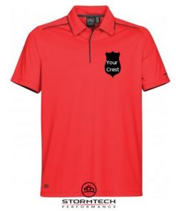 stormtech mens golf polo shirt embroidered crest society gift prize ireland