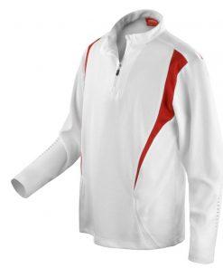 Mens White Gym/Training Jacket