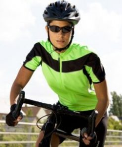 Womens Lime Cycling Top
