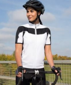Womens White Cycling Top
