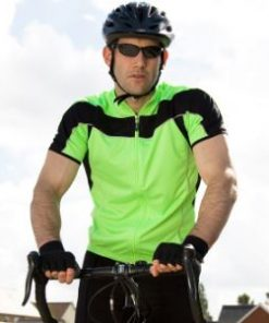 Mens Lime Cycling Top