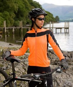 Womens Orange Performance Cycling Top