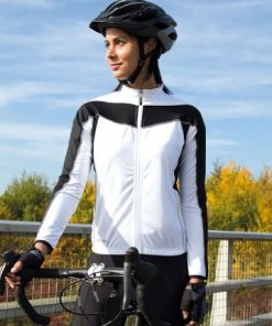 Womens White Performance Cycling Top