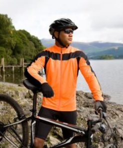 Mens Orange Performance Cycling Top