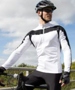 Mens White Performance Cycling Top