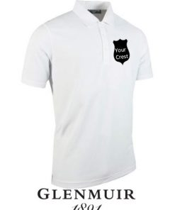 glenmuir mens golf polo shirt crest embroidered societies gift ireland