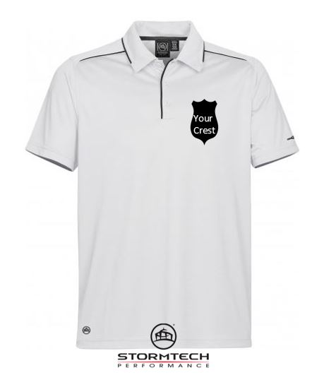 965026d5 stormtech mens golf polo shirt embroidered crest society gift prize ireland