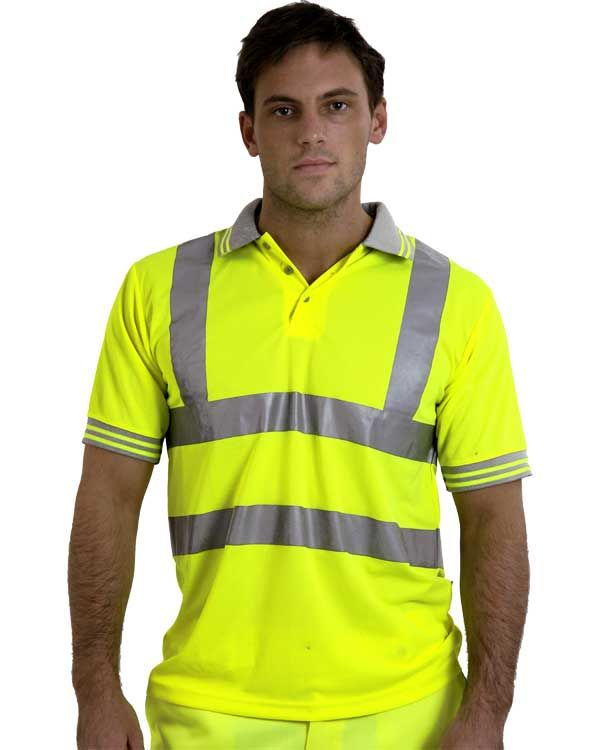 Portwest workwear hi vis polo shirt branded logo free for Hi vis t shirt printing