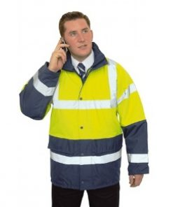PortWest Hi-Vis Traffic & Work Jacket
