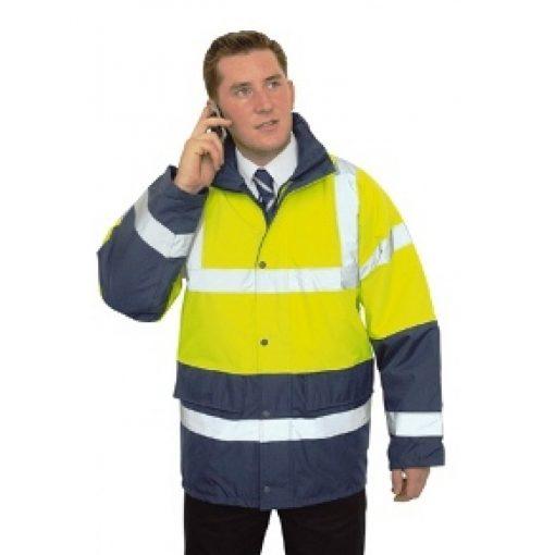 PortWest Hi-Vis Traffic & Work Jacket