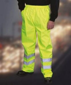 Yoko Hi Vis Workwear Waterproof Over Trousers