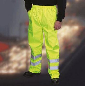 Yoko Hi Vis Workwear Waterproof Over Trousers