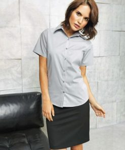 Ladies Short Sleeved Bar Shirt Light