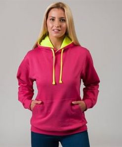 Unisex Bright Contrast Coloured Hoodies Ireland